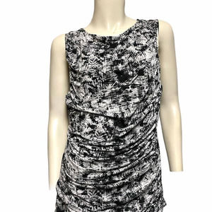 Ann Taylor sleeveless top XL ruched sides stretch